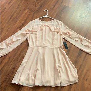 Lulu's light peach long sleeve dress